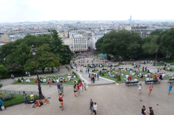uitzicht op Montmartre