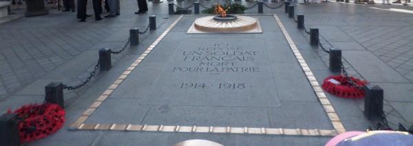 bezienswaardigheden in Parijs - graf van de onbekende soldaat
