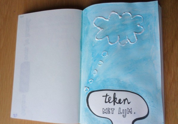 Dare to Wreck - Wreck this Journal - Teken met lijm