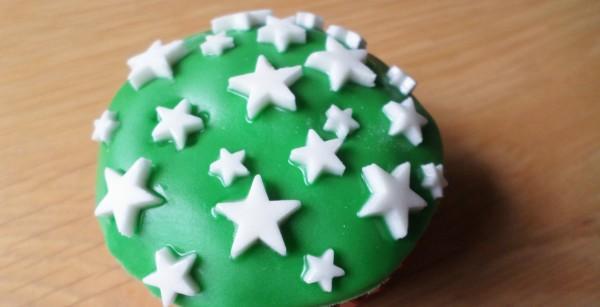 Kerstcupcakes met sterretjes