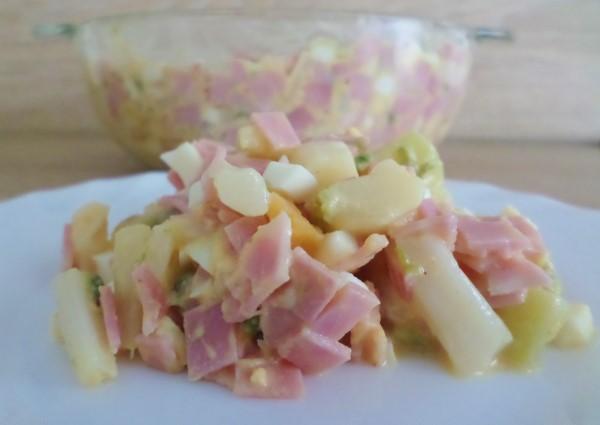 Recept aspergessalade met ei en ham