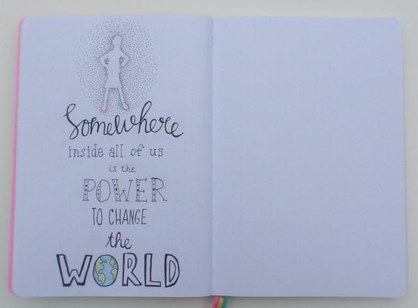 Bullet journal ideeen, bullet journal inspiratie, een kijkje in mijn creativity journal, handlettering, doodles