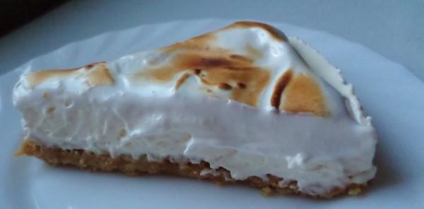 Citroen-monchoutaart met eiwitschuim, recept citroencheesecake met merengue, no bake, bakken zonder oven