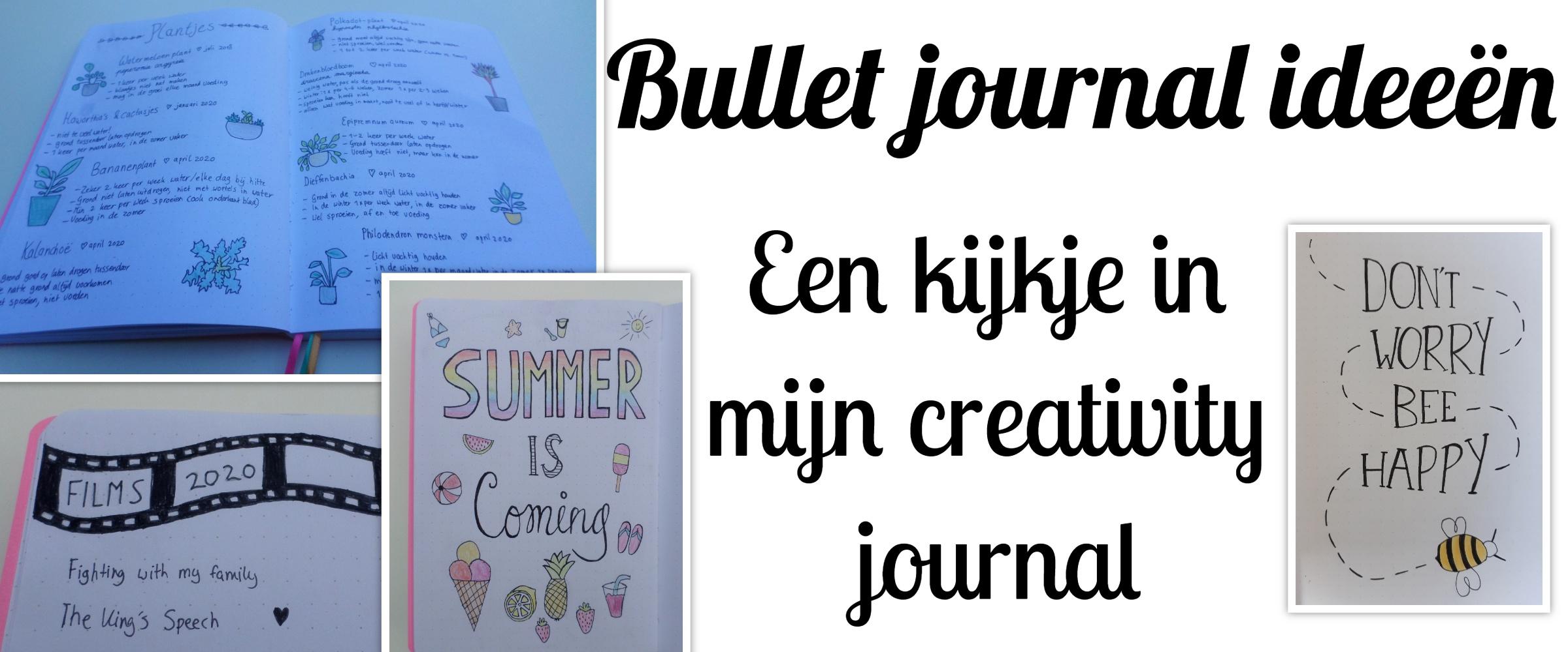bullet journal ideeen kijkje in mijn creativity journal