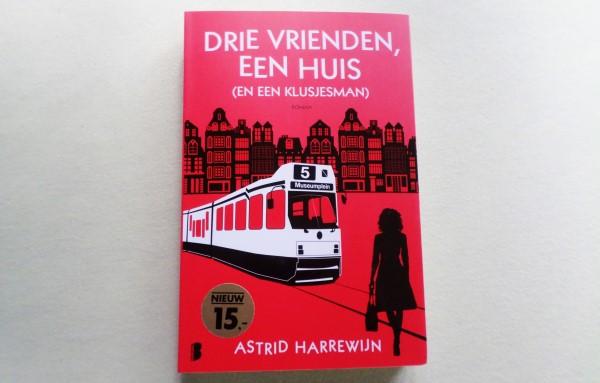 Drie vrienden, een huis en een klusjesman, Astrid Harrewijn, book review, recensie
