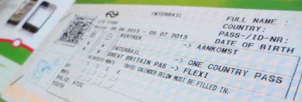 Interrail One Country Pass Great-Britain
