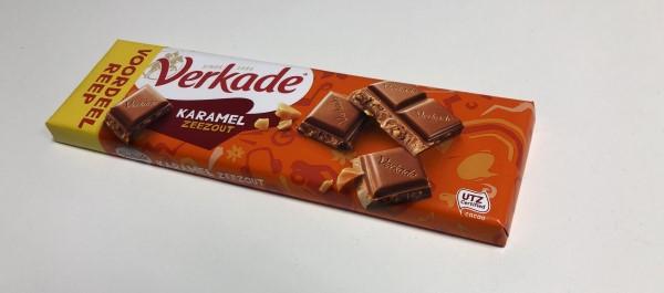 Karamel-zeezout-chocolade-test, Action goedkope karamel zeezout-chocola, Tony's dupe
