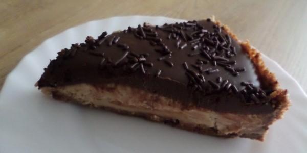 Mokka-cheesecake met chocoladesaus, cheesecake, taart