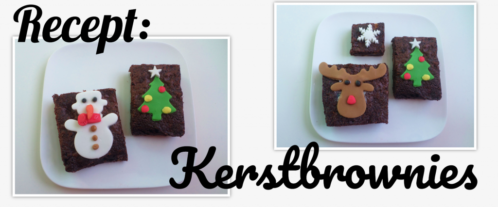 Recept Kerstbrownies, dessert voor Kerst, Kerst grand dessert, bakken voor Kerst, bakken voor de feestdagen