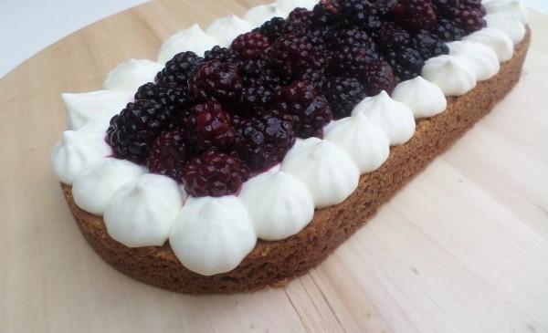 Recept bramenslof met monchou, roomkaastopping, sloffentaart met fruit