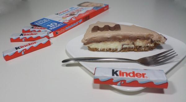 Recept voor de ultieme Kinder chocolade-taart, taart met Kinder chocolade reepjes, roomkaas, Kinder chocolade cheesecake, Kinder chocolade monchoutaart