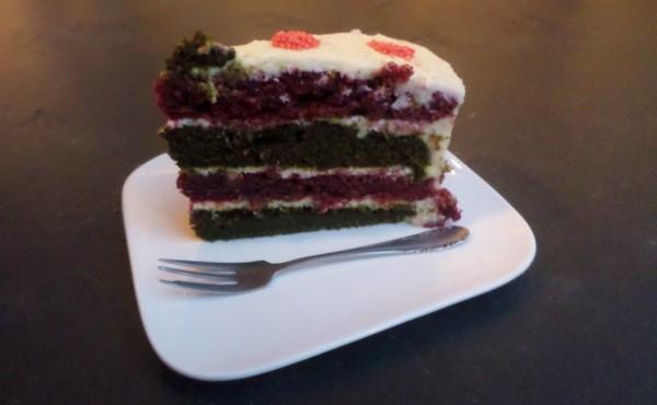 Recept red & green velvet kersttaart met creamcheese frosting