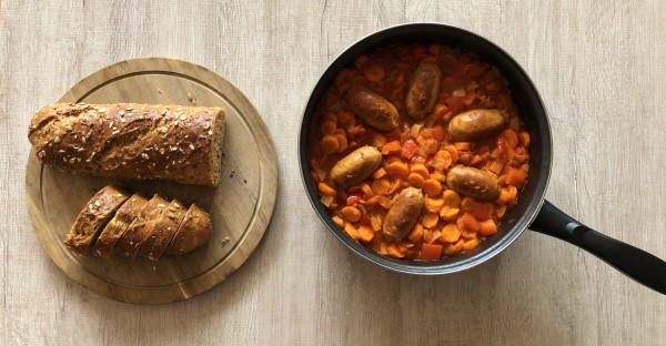 Recept tomatenstoofpotje met wortel en paprika