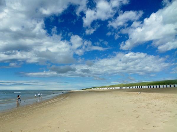 Texel, strand bij Paal 15, zee