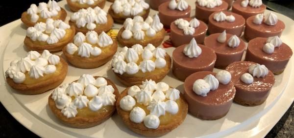 Wat ik deed in de kerstvakantie, mini-gebakjes met Italiaanse meringue