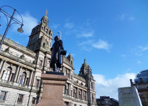 Wat te doen in Glasgow, stadswandeling met bezienswaardigheden, George Square