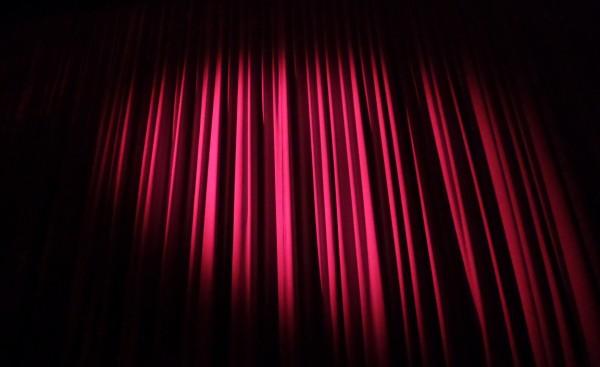 doek theater stockfoto archief klein