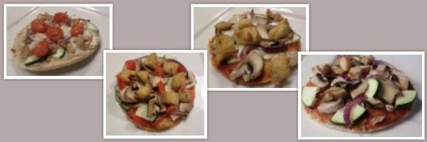 pita pizza's, pita-pizza's maken leuk alternatief voor gourmetten