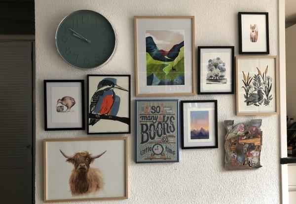Betaalbare kunst kopen, waar koop je betaalbare kunst, gallery wall maken
